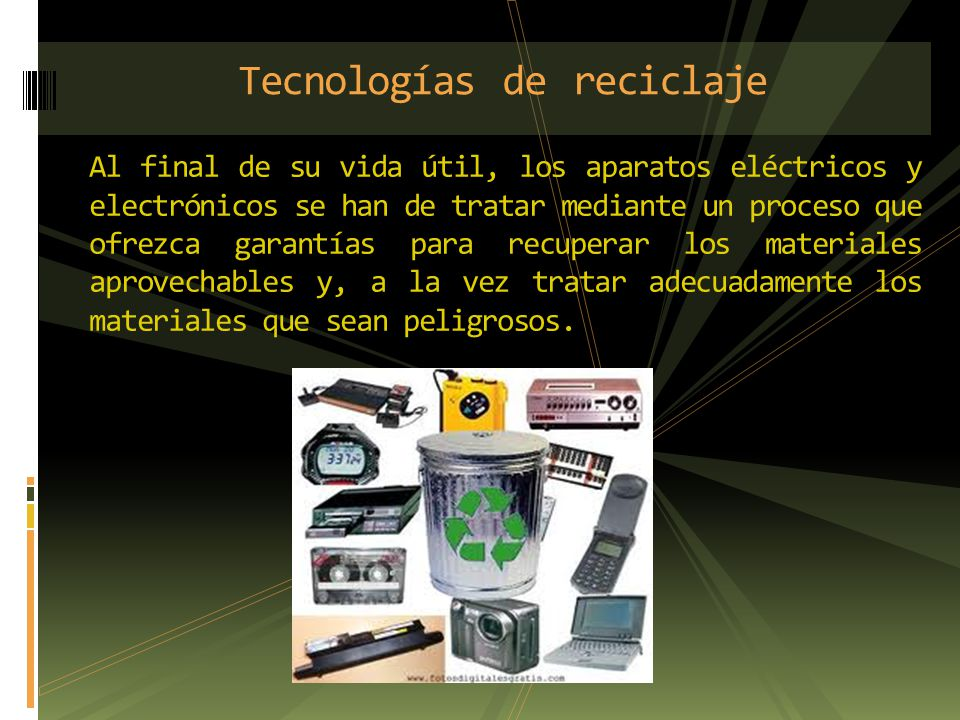 Al final de su vida útil, los aparatos eléctricos y electrónicos se han de tratar mediante un proceso que ofrezca garantías para recuperar los materia