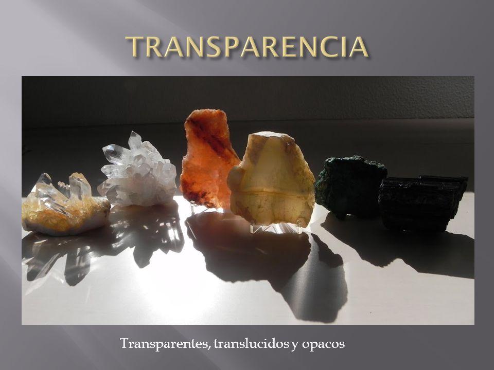 Transparentes, translucidos y opacos