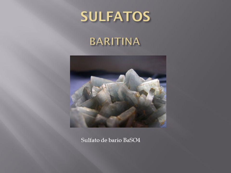 Sulfato de bario BaSO4