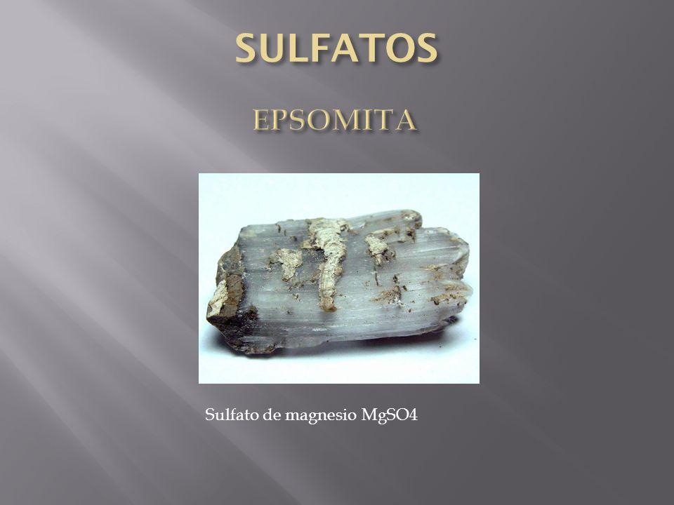 Sulfato de magnesio MgSO4