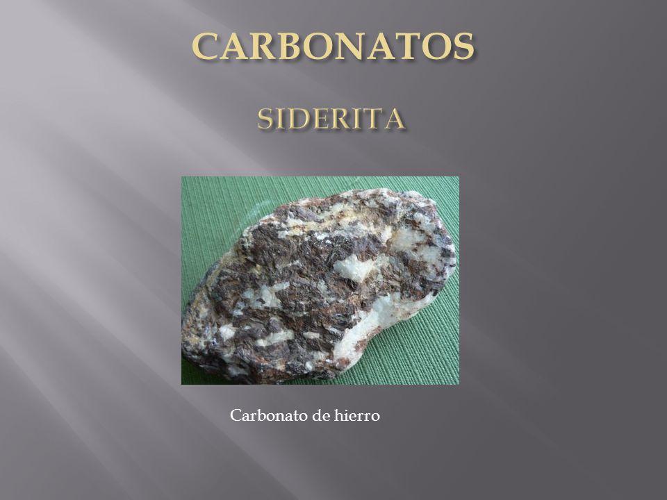 Carbonato de hierro