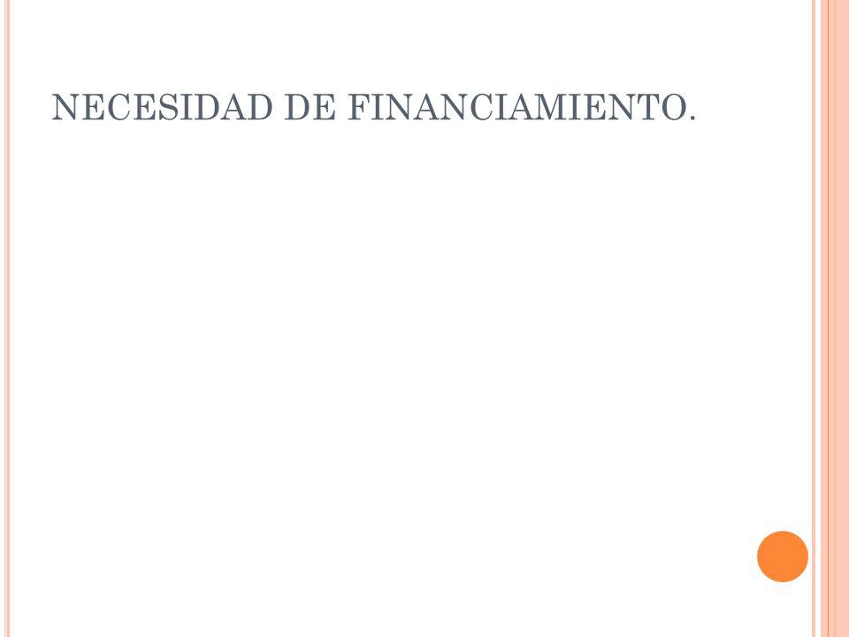 NECESIDAD DE FINANCIAMIENTO.