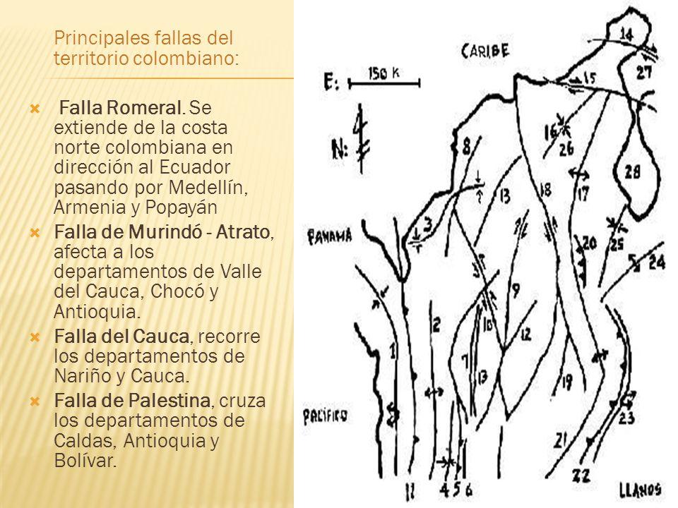 Principales fallas del territorio colombiano: Falla Romeral.