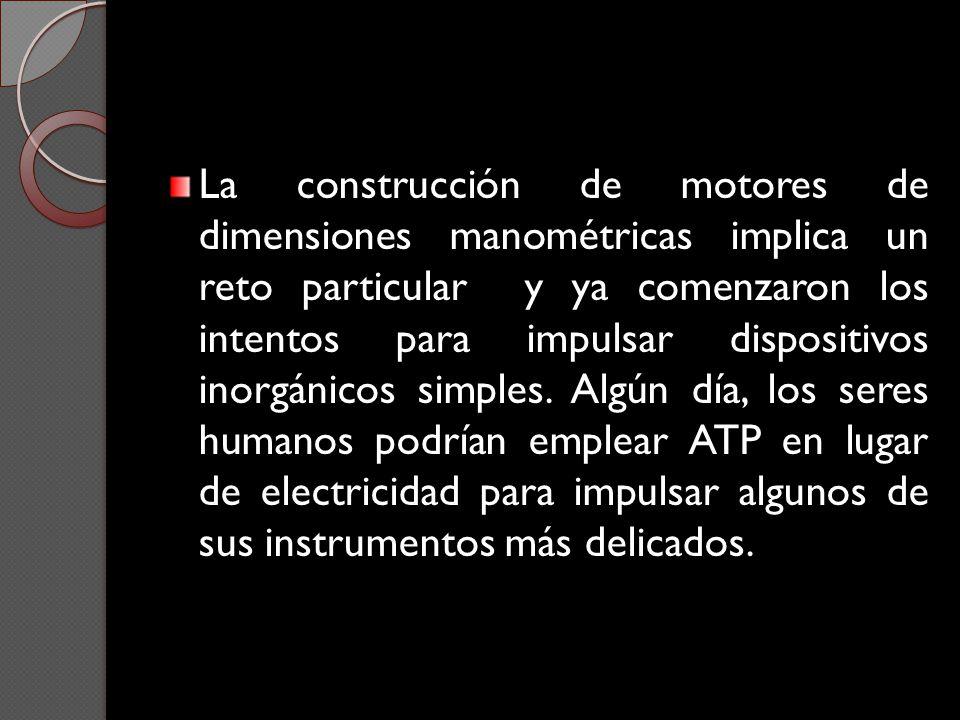 La construcción de motores de dimensiones manométricas implica un reto particular y ya comenzaron los intentos para impulsar dispositivos inorgánicos