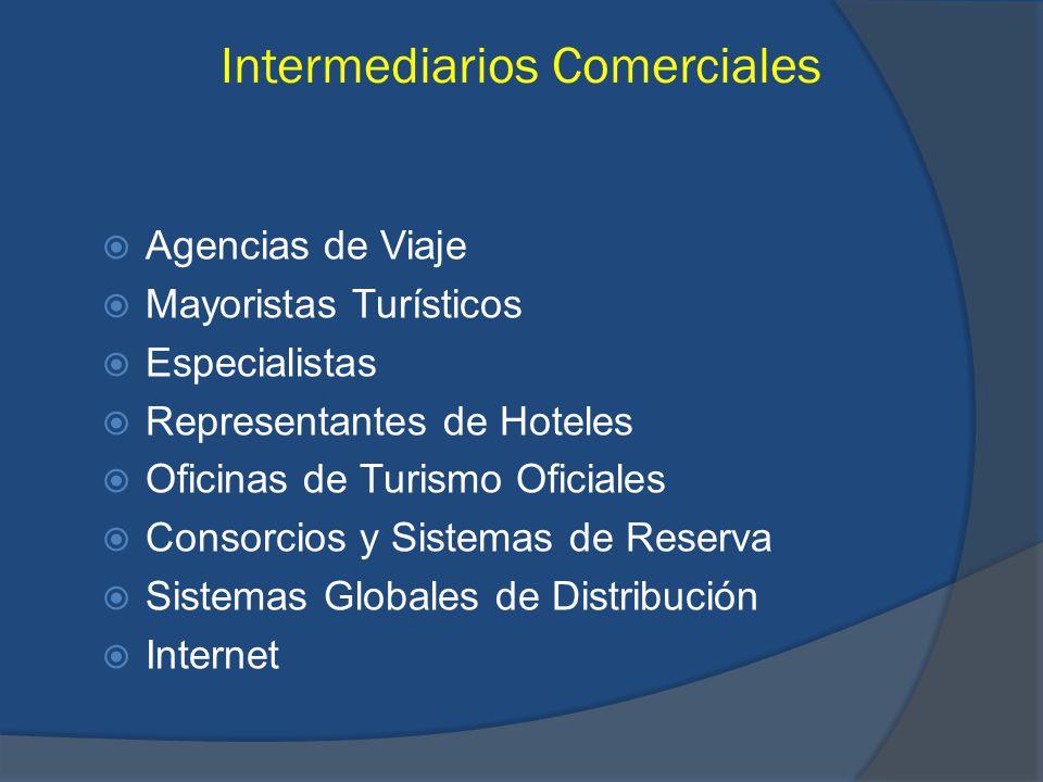 Intermediarios Comerciales Agencias de Viaje Mayoristas Turísticos Especialistas Representantes de Hoteles Oficinas de Turismo Oficiales Consorcios y