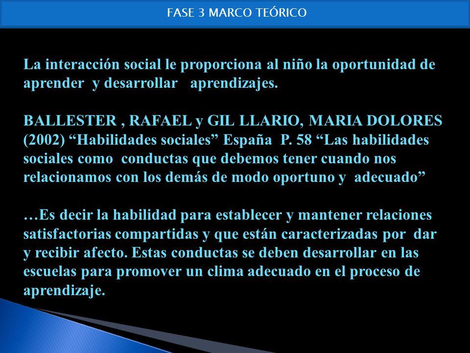 MARTINEZ, N.D & SANZ, M.Y: (2001) Entrenamiento en Habilidades Sociales.