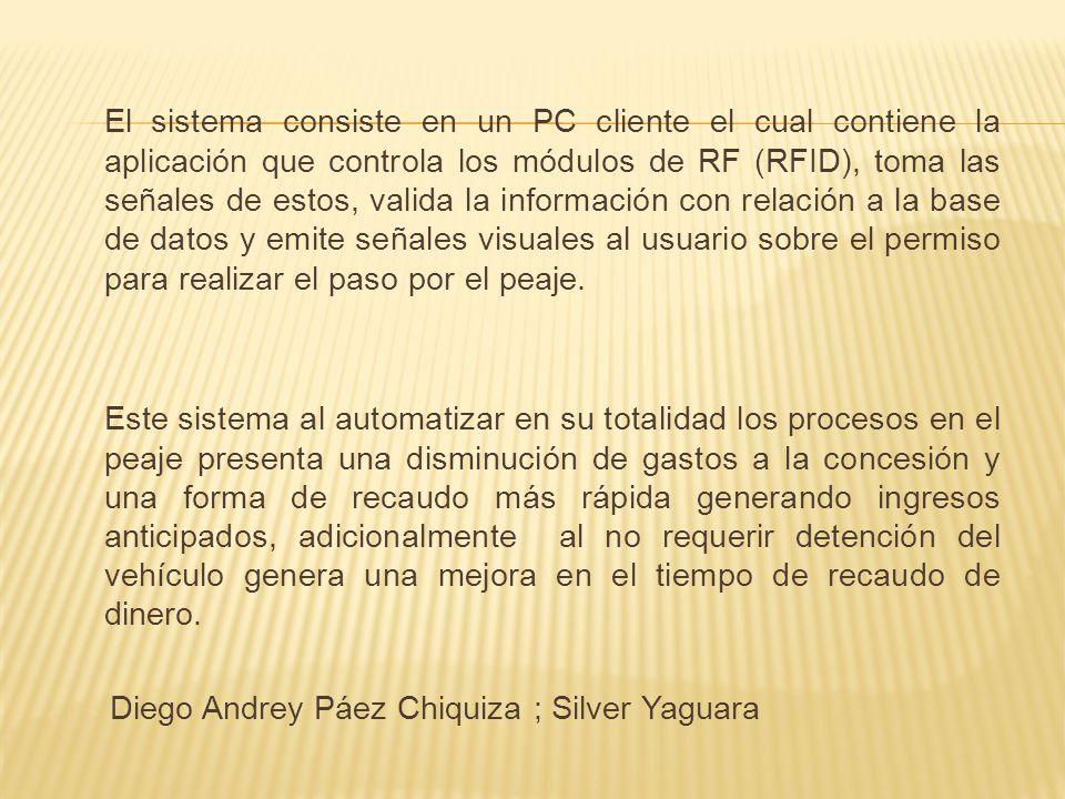 El problema directo asociado a los peajes en Bogotá es el recaudo en forma manual el cual genera para la concesión gastos operativos al requerir personal y papelería las 24 horas todos los días.