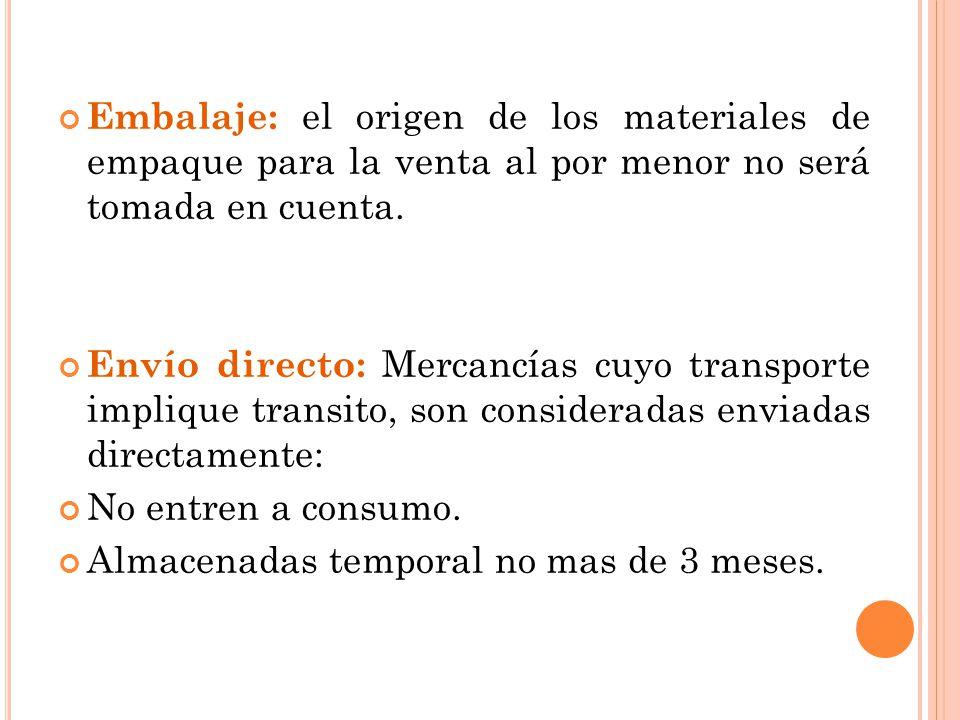 Embalaje: el origen de los materiales de empaque para la venta al por menor no será tomada en cuenta. Envío directo: Mercancías cuyo transporte impliq