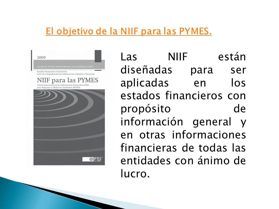 El objetivo de la NIIF para las PYMES.