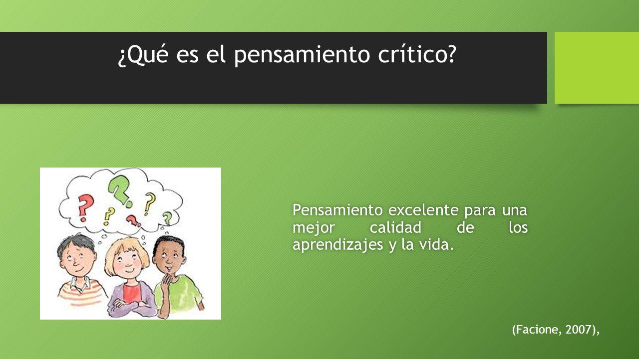 ¿Qué es el pensamiento crítico.