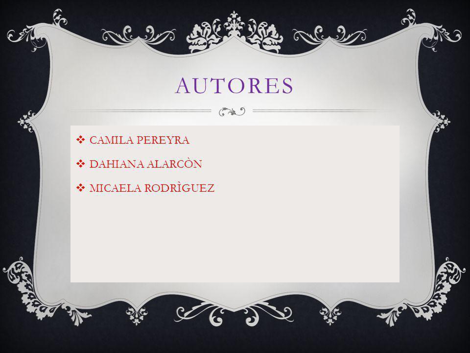 AUTORES CAMILA PEREYRA DAHIANA ALARCÒN MICAELA RODRÌGUEZ