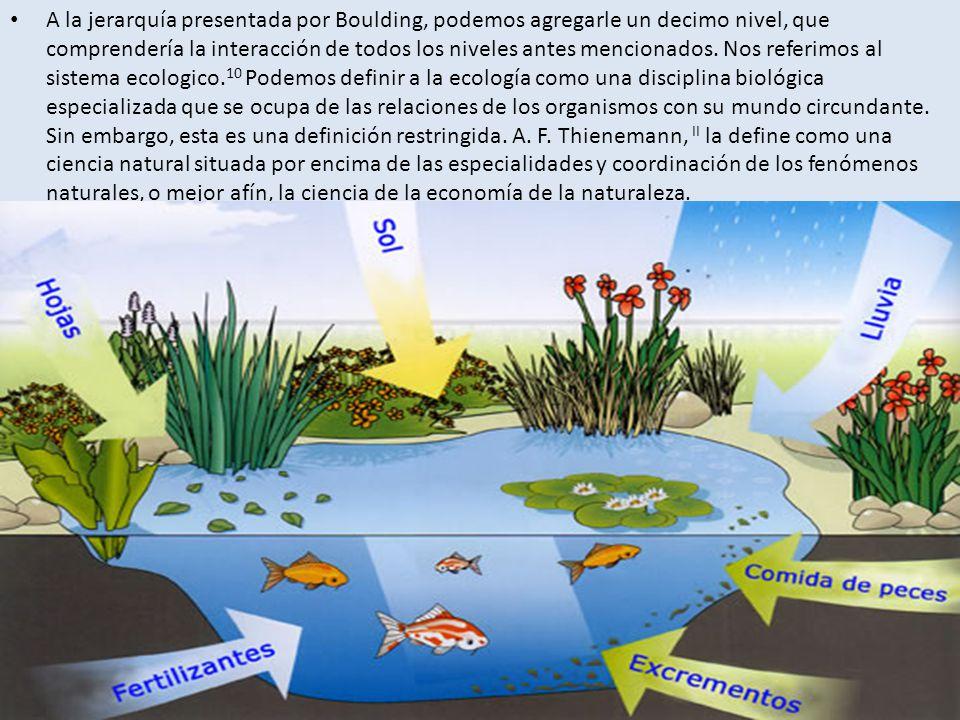 La ecología, expresada en estos términos, abarca la totalidad del ser.