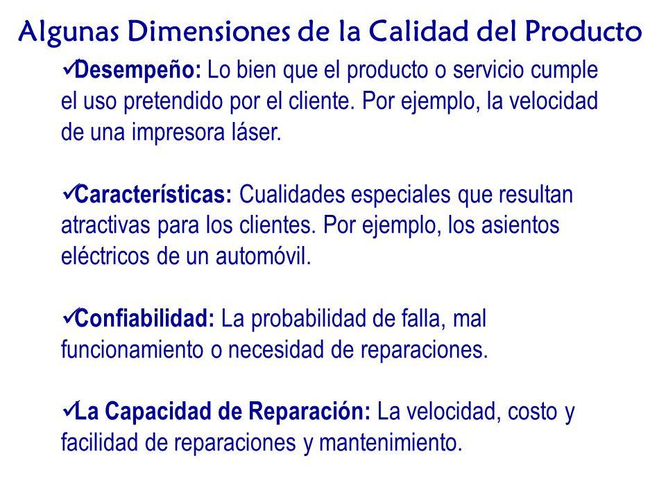 Desempeño: Lo bien que el producto o servicio cumple el uso pretendido por el cliente.