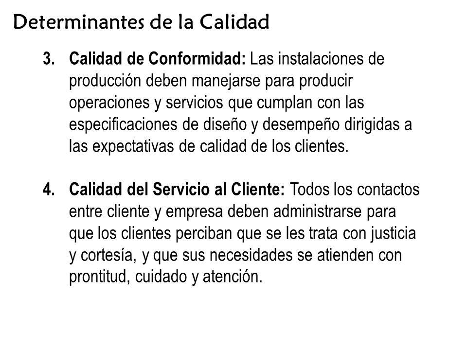 Determinantes de la Calidad 3.