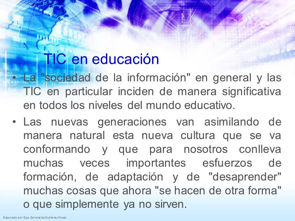 TIC en educación La