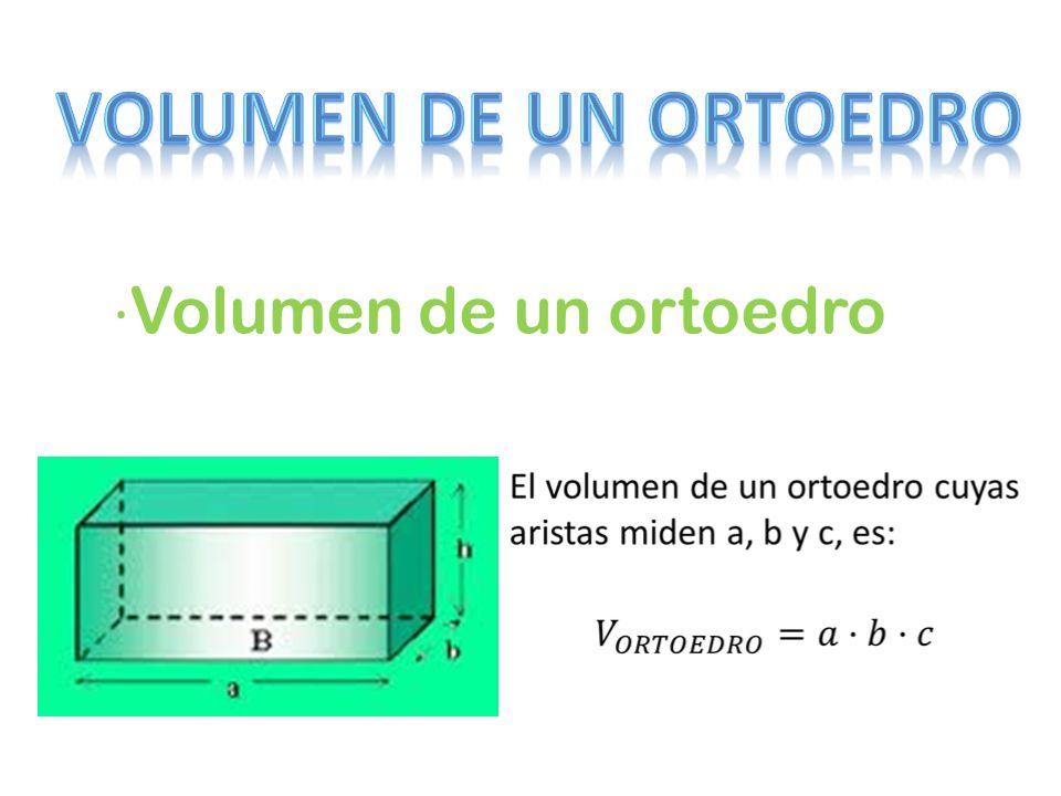 · Volumen de un ortoedro