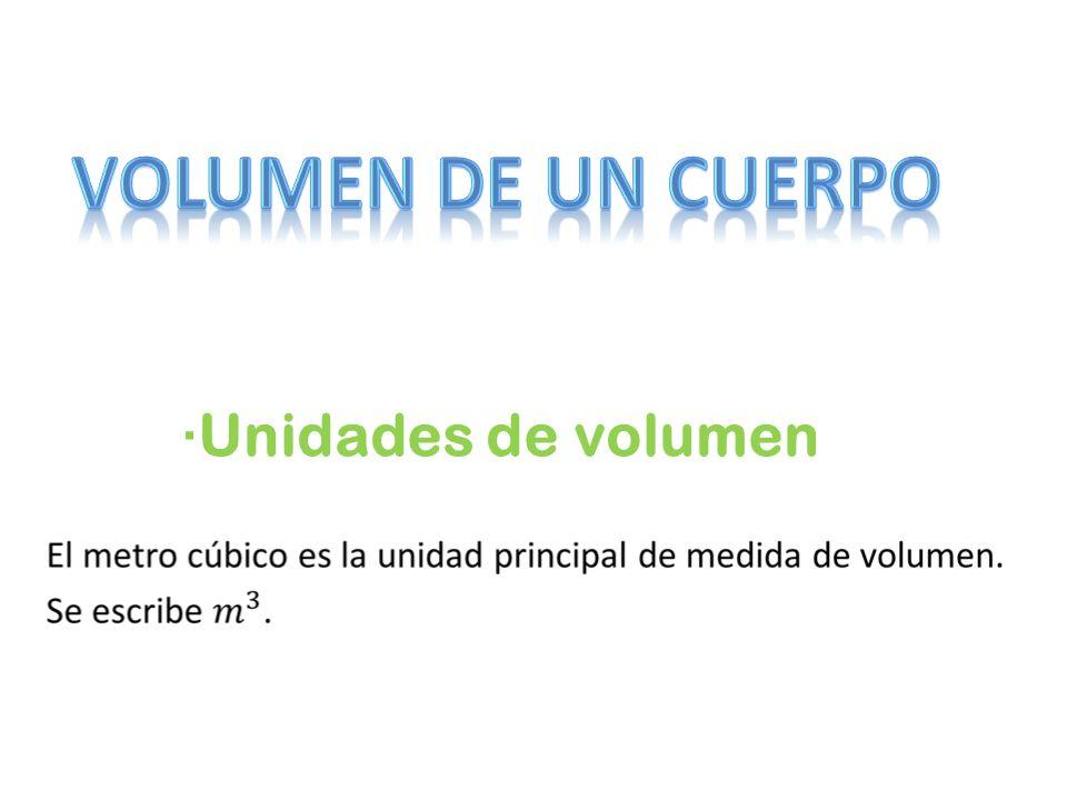 ·Unidades de volumen