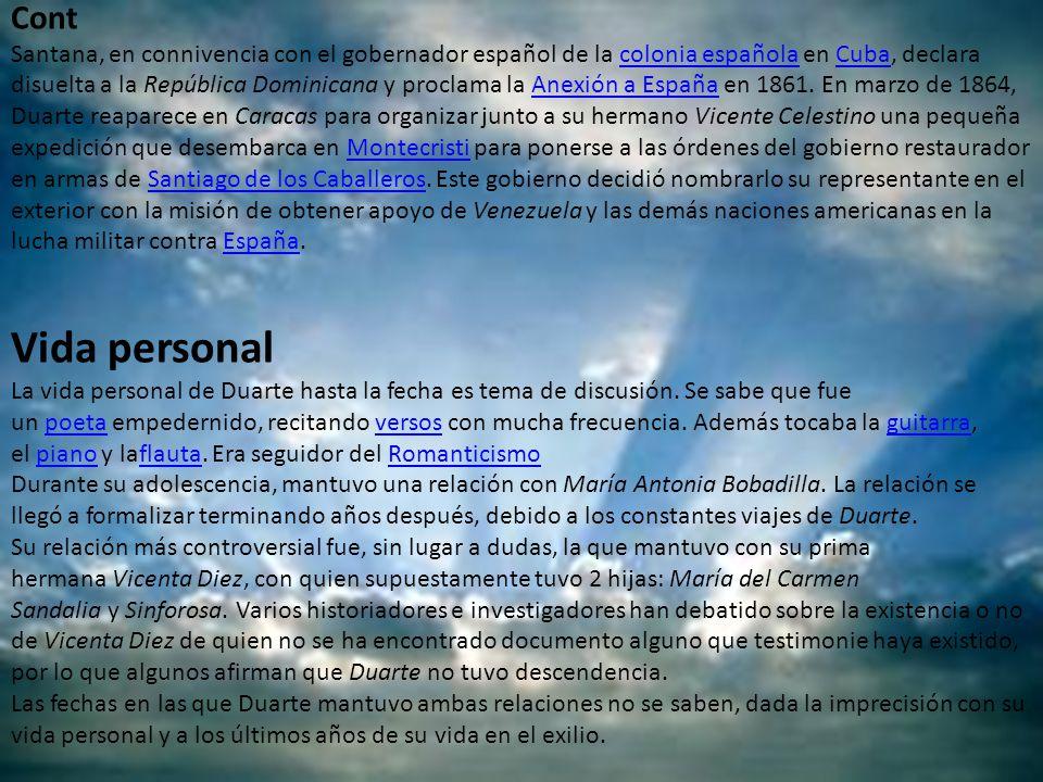 Cont Santana, en connivencia con el gobernador español de la colonia española en Cuba, declara disuelta a la República Dominicana y proclama la Anexió