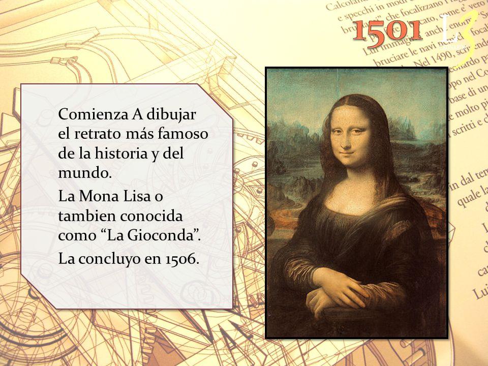 Comienza A dibujar el retrato más famoso de la historia y del mundo.