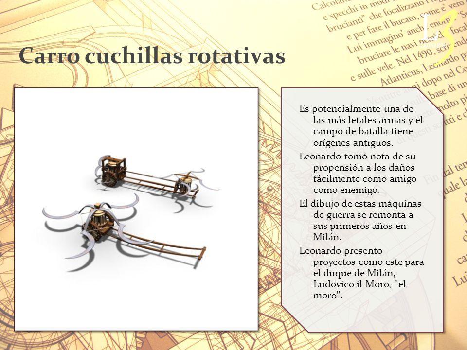 Carro cuchillas rotativas Es potencialmente una de las más letales armas y el campo de batalla tiene orígenes antiguos.