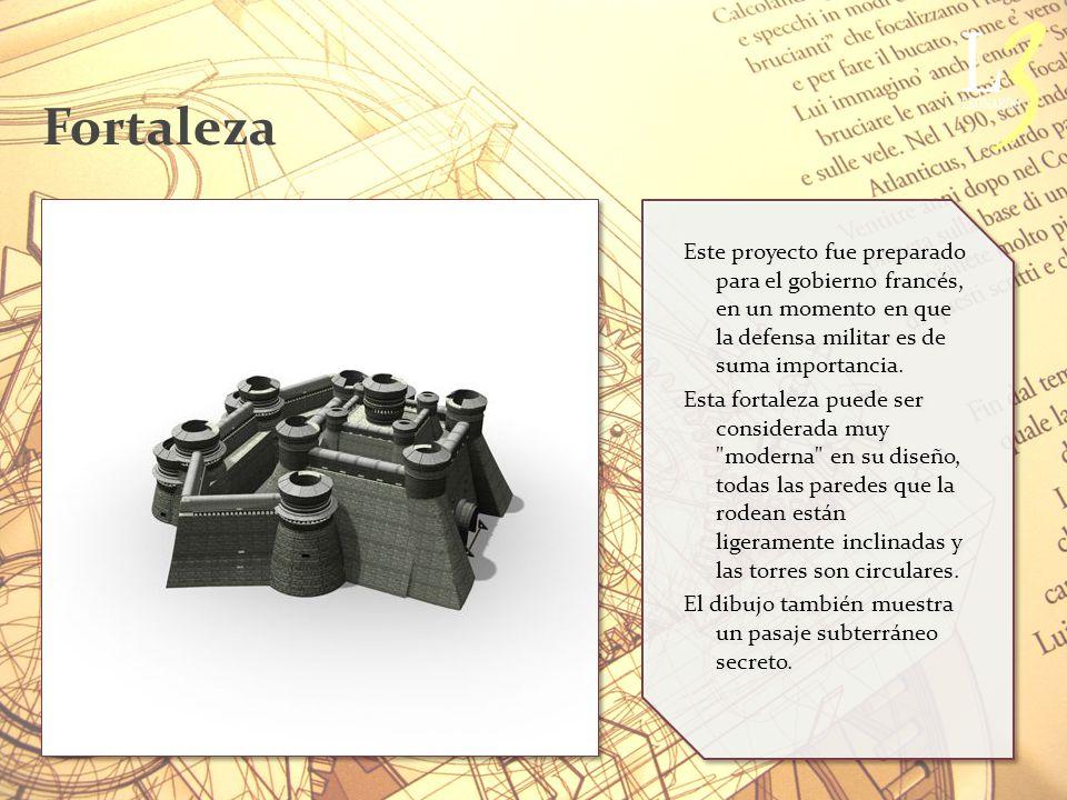 Fortaleza Este proyecto fue preparado para el gobierno francés, en un momento en que la defensa militar es de suma importancia.