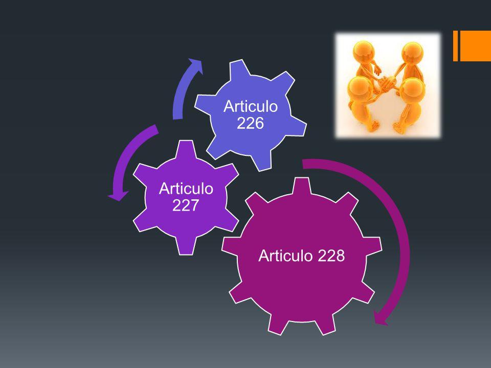 Articulo 228 Articulo 227 Articulo 226
