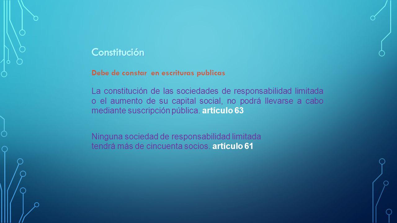 La constitución de las sociedades de responsabilidad limitada o el aumento de su capital social, no podrá llevarse a cabo mediante suscripción pública