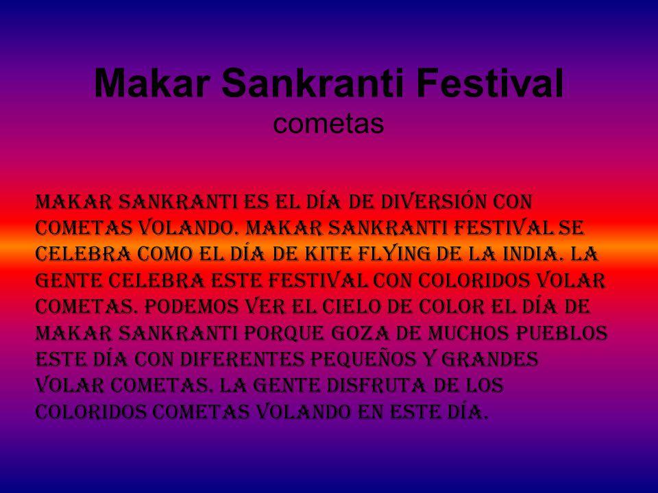Makar Sankranti Festival cometas Makar Sankranti es el día de diversión con cometas volando.