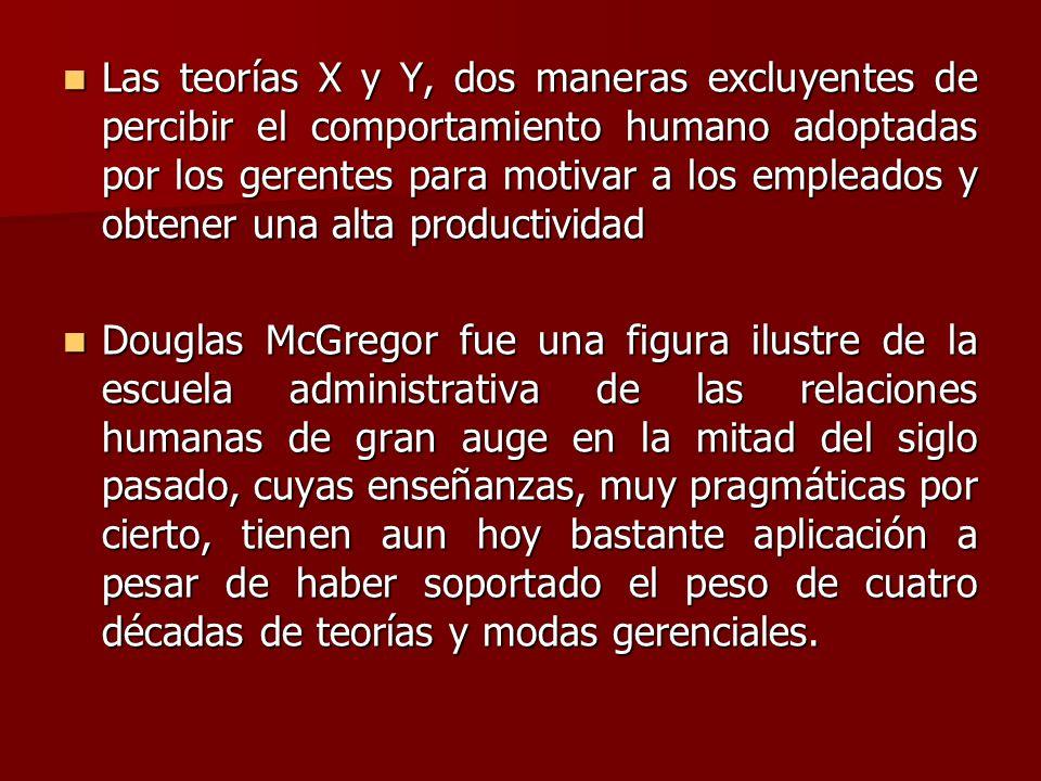 En su obra El lado humano de las organizaciones describió dos formas de pensamiento de los directivos a los cuales denominó teoría X y teoría Y.