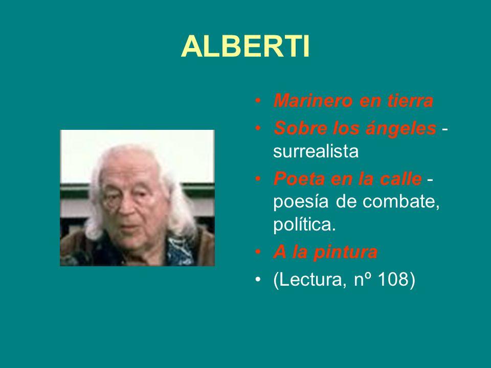 ALBERTI Marinero en tierra Sobre los ángeles - surrealista Poeta en la calle - poesía de combate, política. A la pintura (Lectura, nº 108)