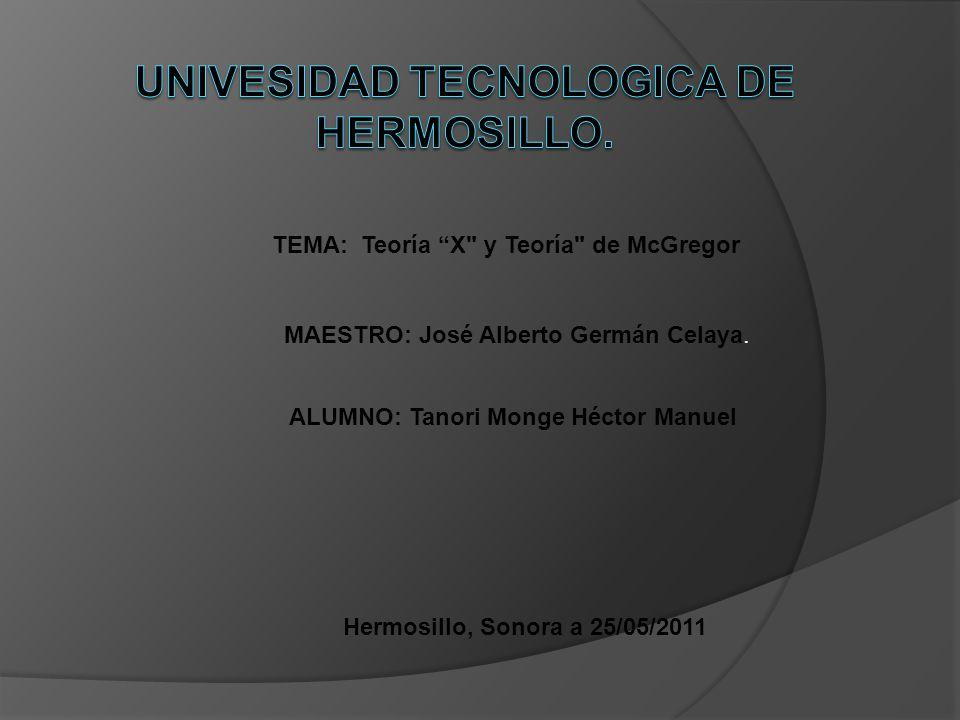 TEMA: Teoría X