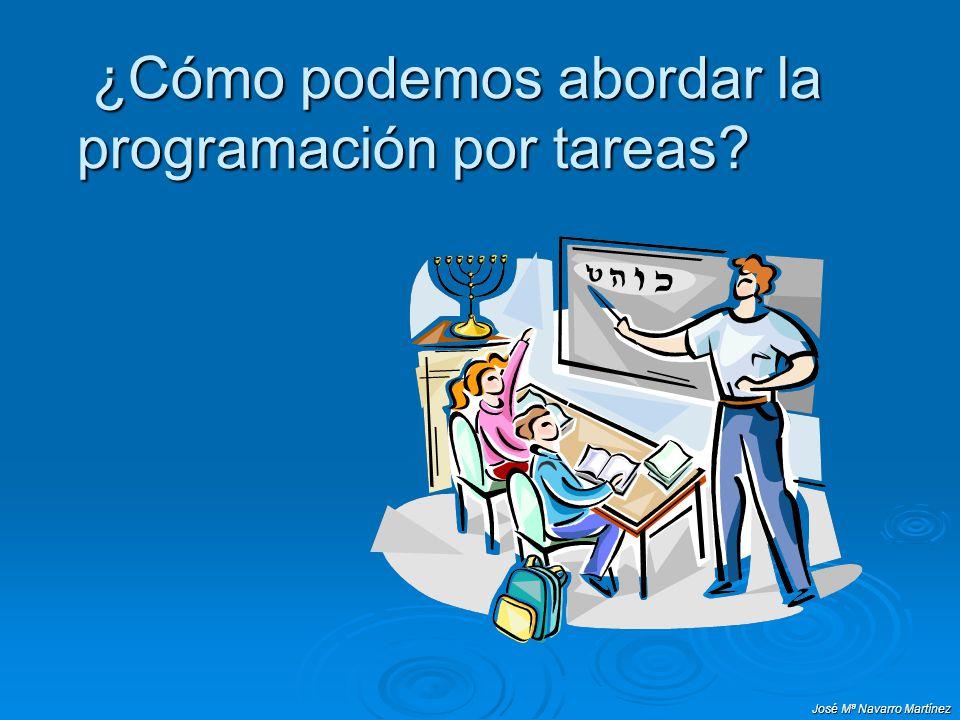 José Mª Navarro Martínez ¿Cómo podemos abordar la programación por tareas? ¿Cómo podemos abordar la programación por tareas?