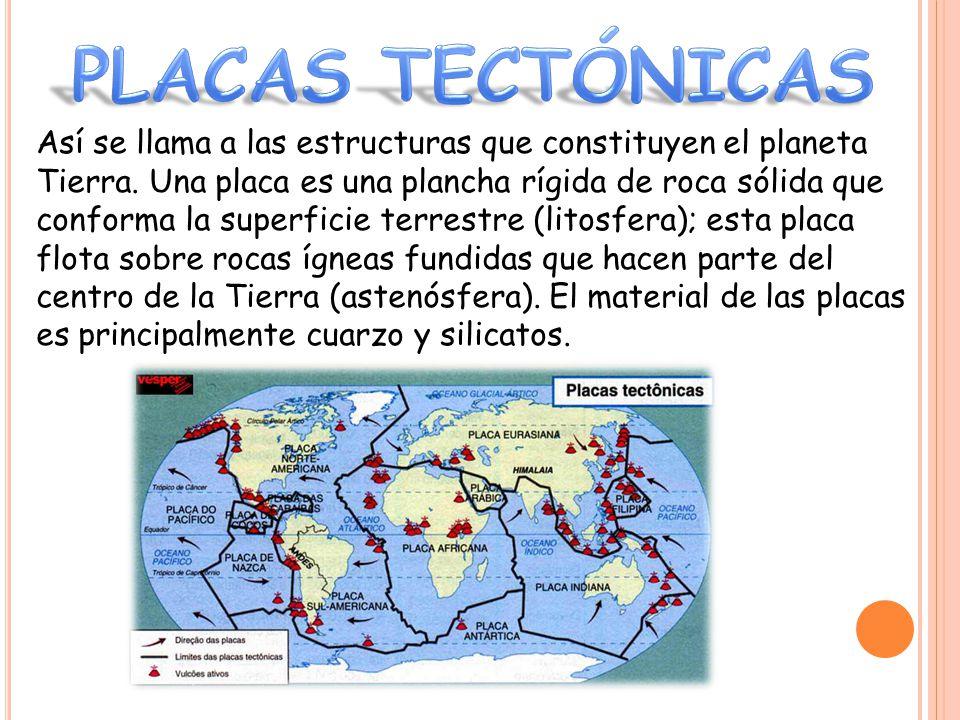 Así se llama a las estructuras que constituyen el planeta Tierra.