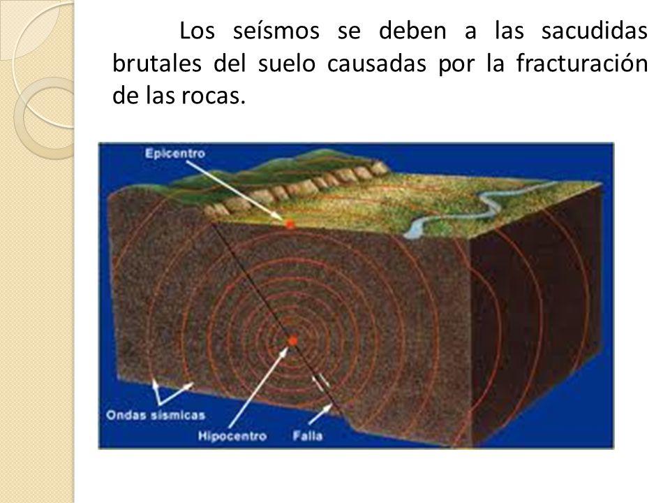Los seísmos se deben a las sacudidas brutales del suelo causadas por la fracturación de las rocas.