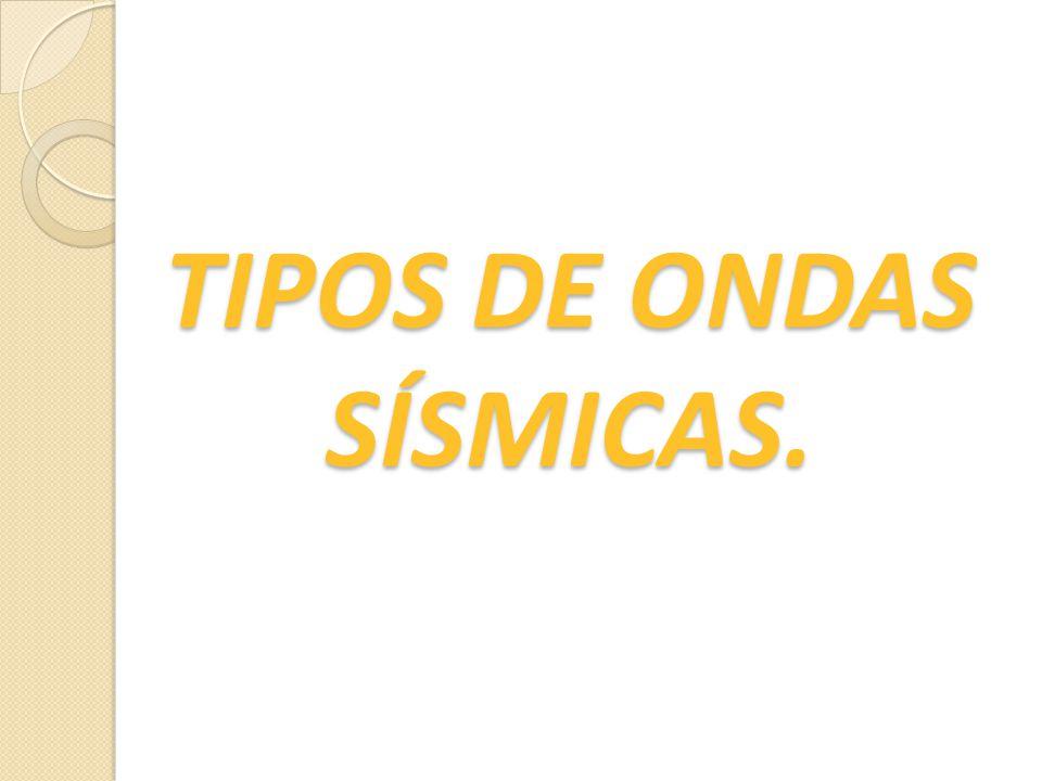 TIPOS DE ONDAS SÍSMICAS.
