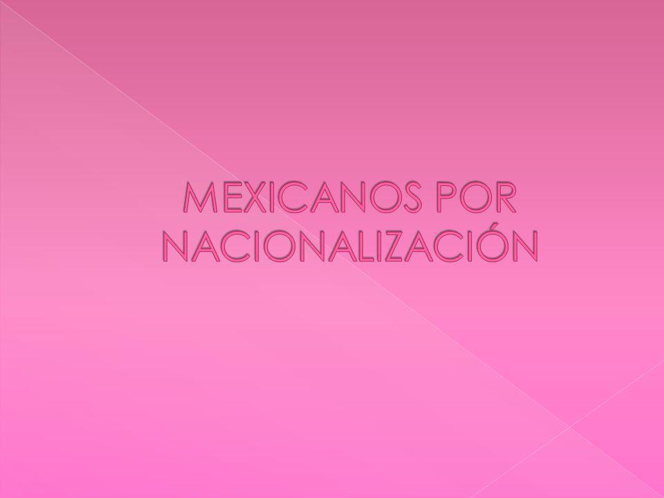 I.- los extranjeros que obtengan de la secretaria de relaciones carta de naturalización II.- la mujer o el varón extranjeros que contraigan matrimonio con varón o con mujer mexicanos, que tengan o establezcan su domicilio dentro del territorio nacional y cumplan con los demás requisitos que al efecto señale la ley.