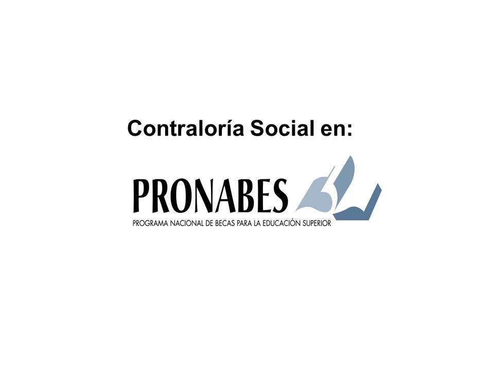 Contraloría Social en: