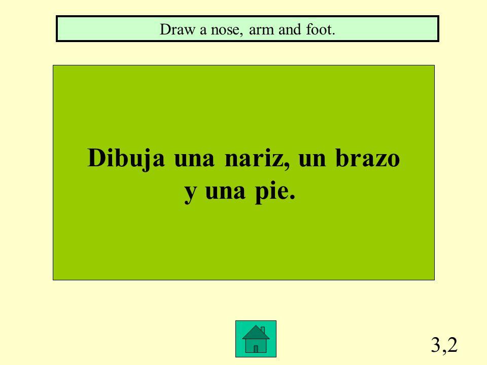 3,1 Dibuja una pizarra, un maestro y un reloj. Draw a white board, teacher and clock/watch.