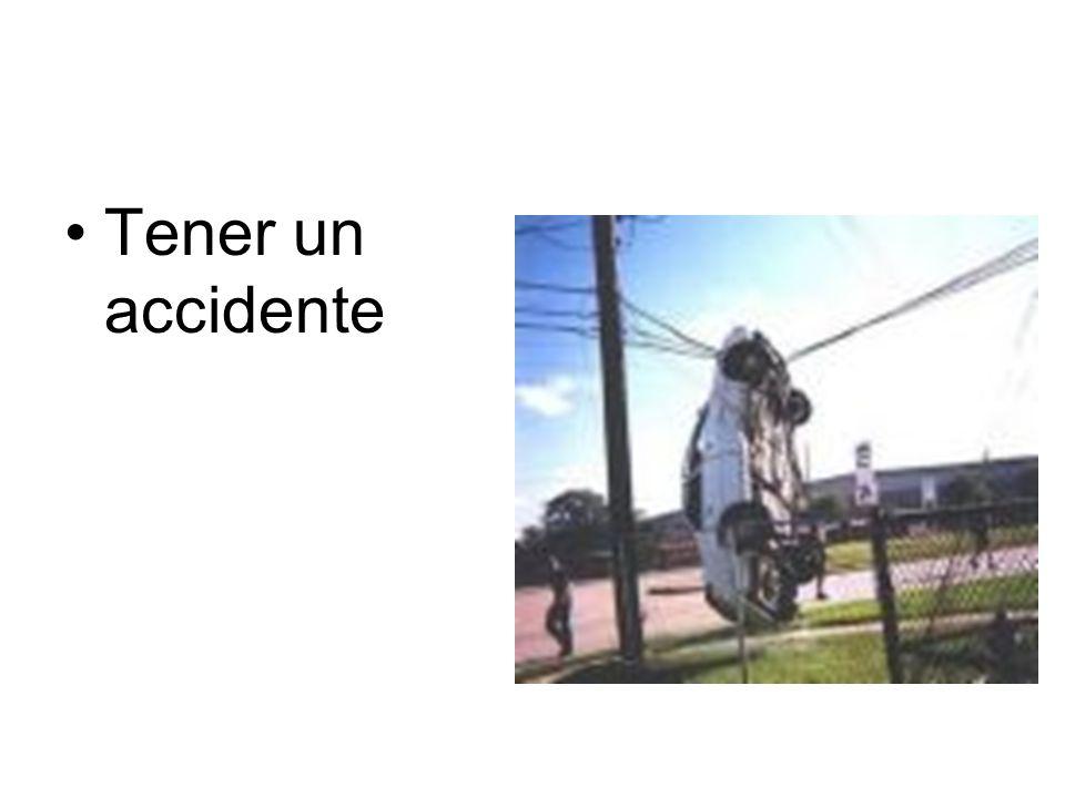 Tener un accidente