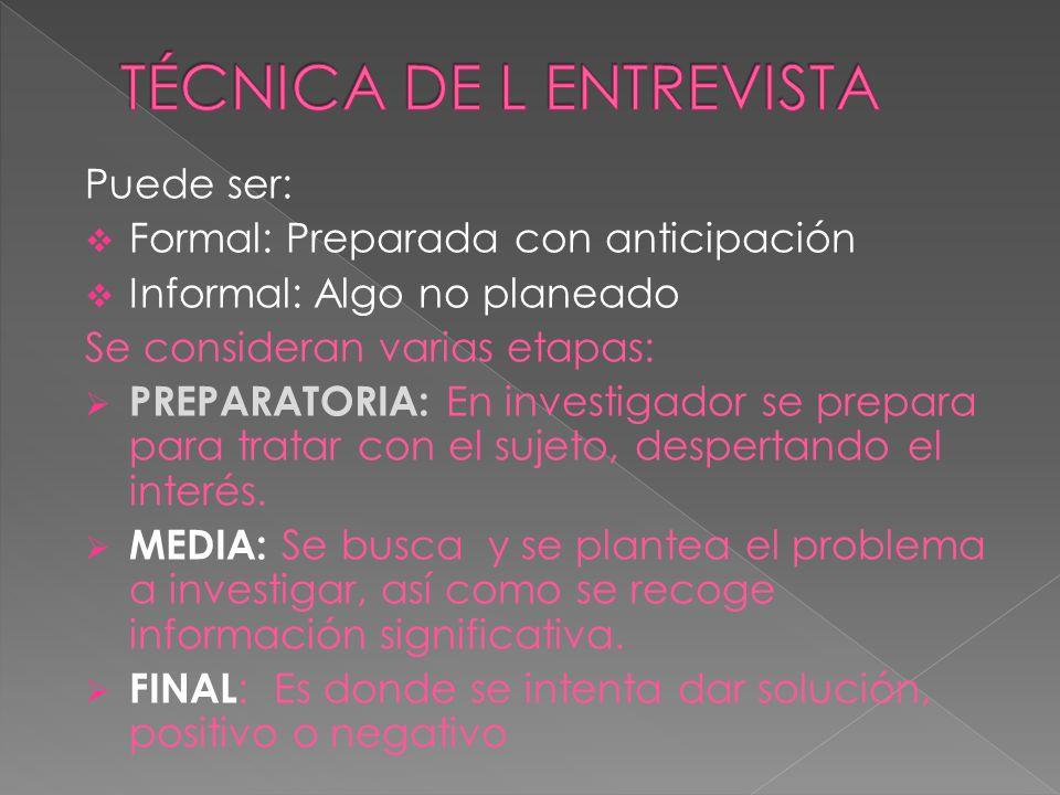 Información escolar Información profesional Información social y sobre amistades.