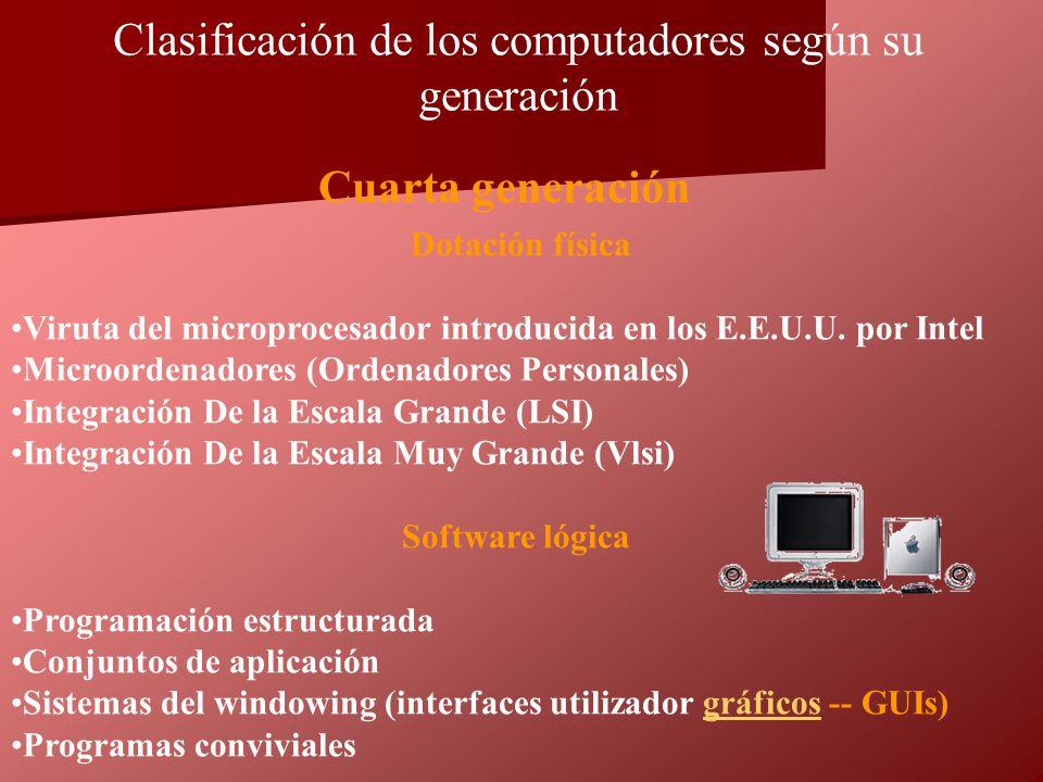 Dotación física Viruta del microprocesador introducida en los E.E.U.U. por Intel Microordenadores (Ordenadores Personales) Integración De la Escala Gr