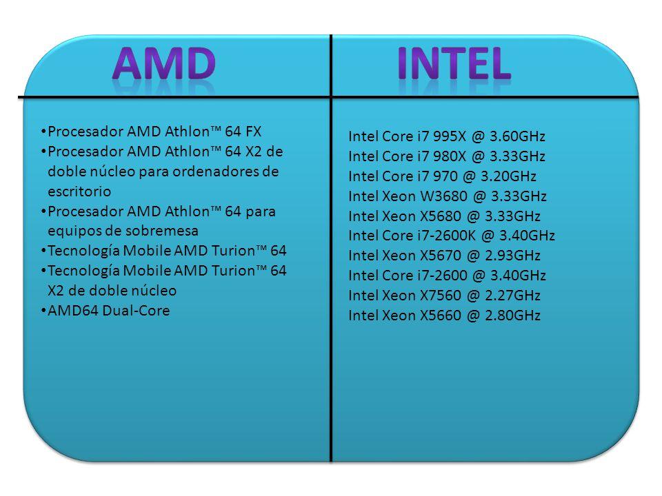 Intel Core i7 995X @ 3.60GHz Intel Core i7 980X @ 3.33GHz Intel Core i7 970 @ 3.20GHz Intel Xeon W3680 @ 3.33GHz Intel Xeon X5680 @ 3.33GHz Intel Core i7-2600K @ 3.40GHz Intel Xeon X5670 @ 2.93GHz Intel Core i7-2600 @ 3.40GHz Intel Xeon X7560 @ 2.27GHz Intel Xeon X5660 @ 2.80GHz Procesador AMD Athlon 64 FX Procesador AMD Athlon 64 X2 de doble núcleo para ordenadores de escritorio Procesador AMD Athlon 64 para equipos de sobremesa Tecnología Mobile AMD Turion 64 Tecnología Mobile AMD Turion 64 X2 de doble núcleo AMD64 Dual-Core