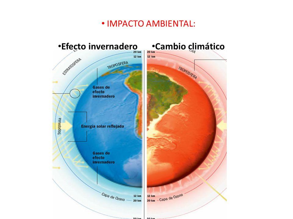 IMPACTO AMBIENTAL: Efecto invernadero Cambio climático