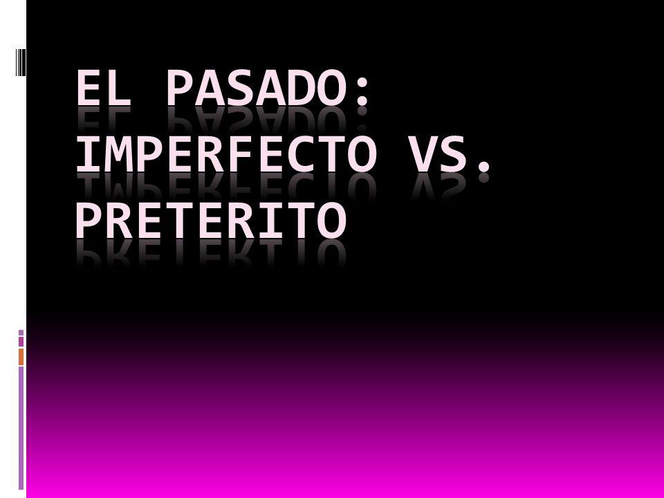 El imperfecto Usamos el imperfecto para: Descibir momentos en el pasado que son repetivos/ habituales Describir una escena en el pasado DESCRIBIR