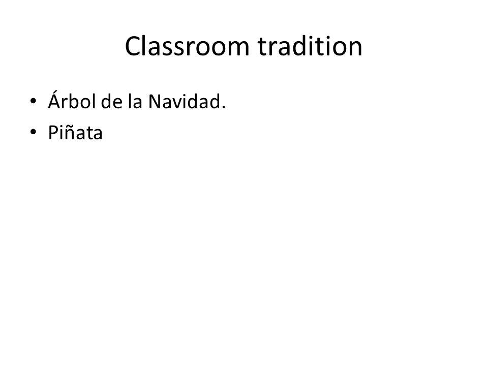 Classroom tradition Árbol de la Navidad. Piñata