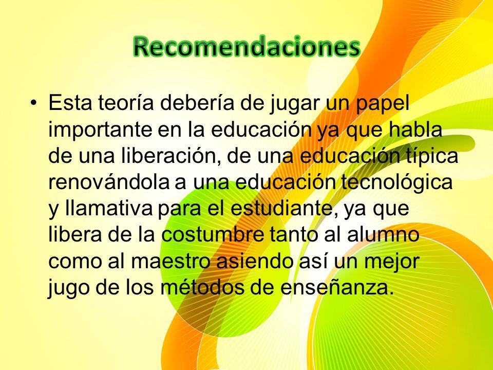 Se habla que esta teoría expuesta por Freire propone que el diálogo como método permite la comunicación entre los educandos y entre éstos y el educado