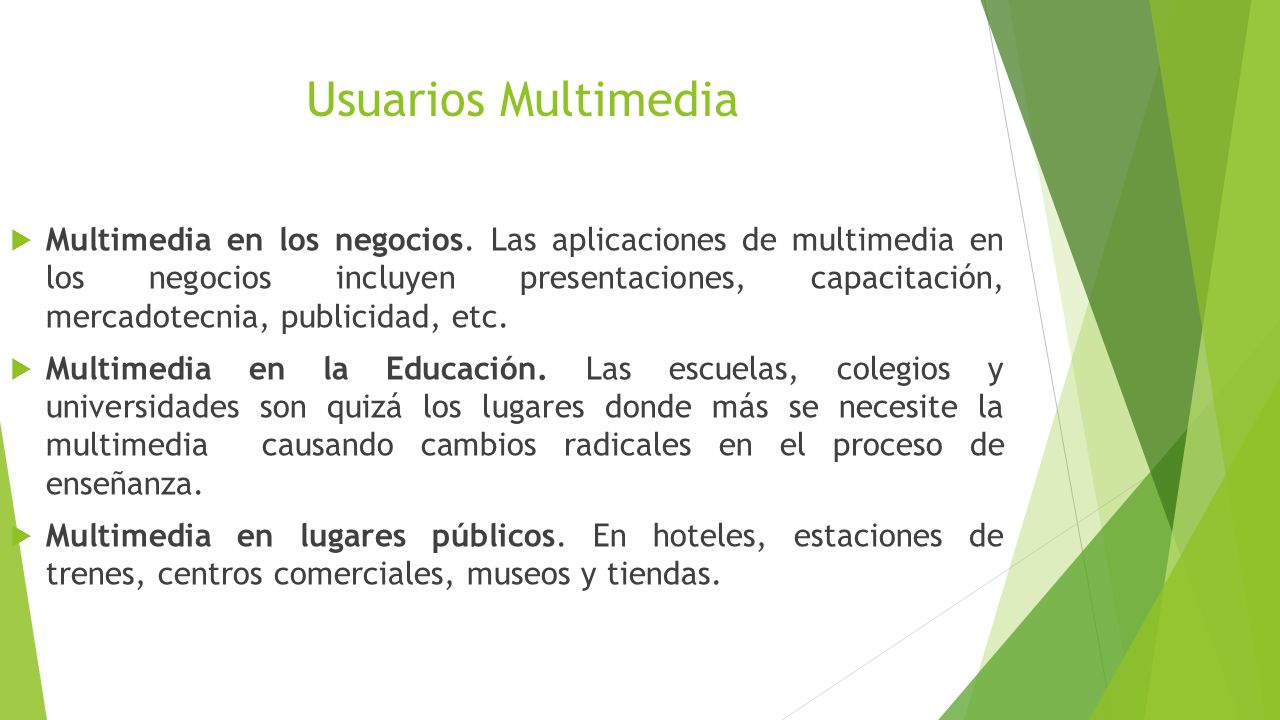 Usuarios Multimedia Multimedia en los negocios.