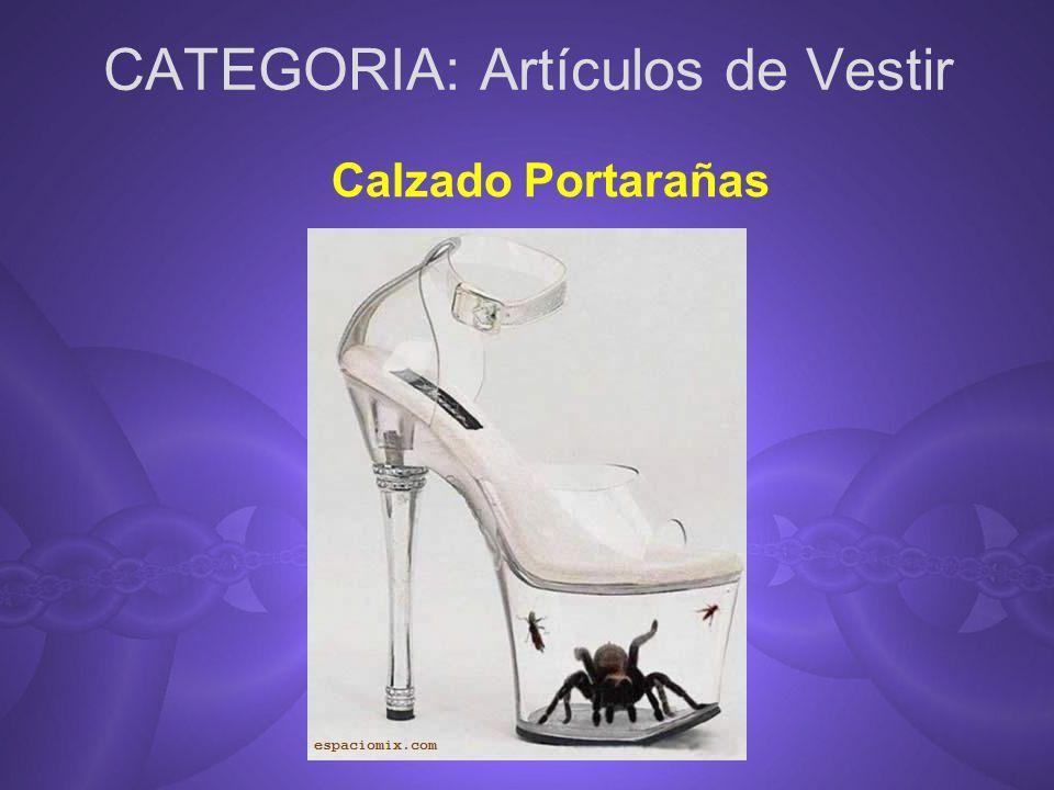 CATEGORIA: Artículos de Vestir Calzado Portarañas