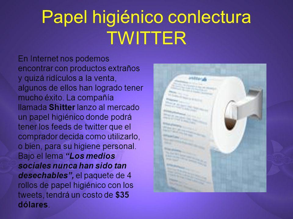 Papel higiénico conlectura TWITTER En Internet nos podemos encontrar con productos extraños y quizá ridículos a la venta, algunos de ellos han logrado tener mucho éxito.