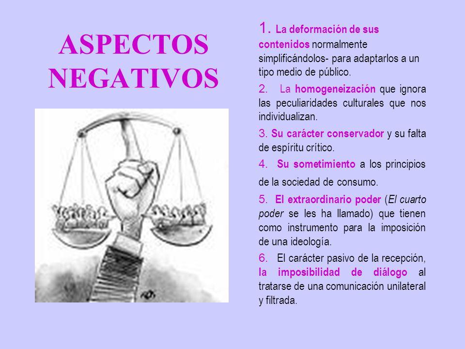 ASPECTOS NEGATIVOS 1.